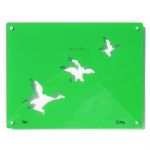 3 Ducks - Signed limited edition Acrylic Wall Art - Green